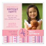 Fiesta de cumpleaños púrpura rosada femenina del anuncio