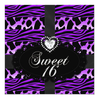 Fiesta de cumpleaños púrpura salvaje dieciséis del comunicado