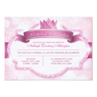 Fiesta de cumpleaños real de princesa Pink Glitter Anuncios