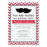 Fiesta de cumpleaños roja de Chevron del bigote Comunicados