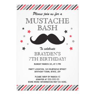 Fiesta de cumpleaños roja del golpe del bigote de