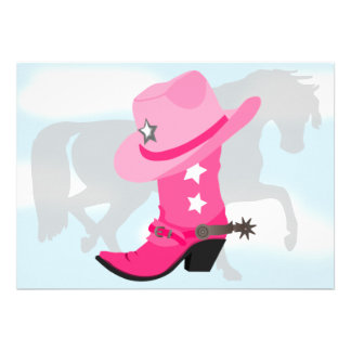 Fiesta de cumpleaños rosada de la bota del gorra