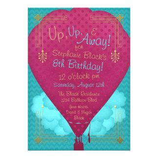 Fiesta de cumpleaños rosada de los chicas del glob comunicado