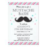 Fiesta de cumpleaños rosada del golpe del bigote comunicados