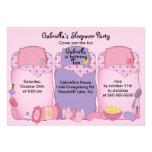 Fiesta de cumpleaños rosada del sueño invitacion personal