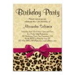 Fiesta de cumpleaños rosada fucsia del chica del invitaciones personalizada