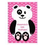 Fiesta de cumpleaños rosada y púrpura de la panda