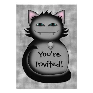 Fiesta de cumpleaños sombría del gato del gatito