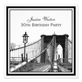 Fiesta de cumpleaños SQ del puente de Brooklyn del Invitacion Personalizada