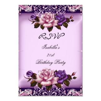 Fiesta de cumpleaños subió lila púrpura rosada