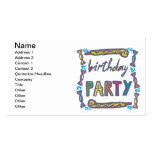 Fiesta de cumpleaños tarjetas de visita