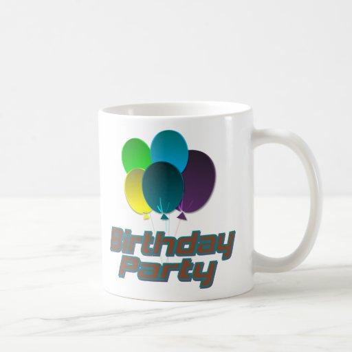 Fiesta de cumpleaños taza de café