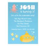 Fiesta de cumpleaños - tema subacuático con el sub comunicados