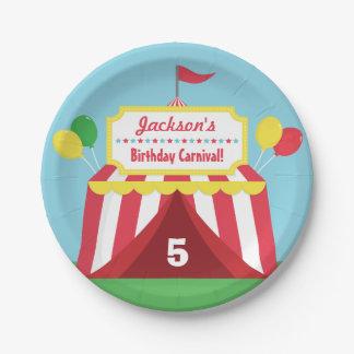 Fiesta de cumpleaños temática de los niños del plato de papel de 7 pulgadas