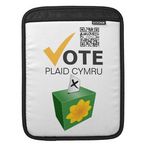 fiesta de Cymru de la tela escocesa de la plantill Mangas De iPad