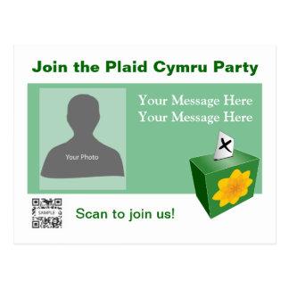 Fiesta de Cymru de la tela escocesa de la plantill Tarjetas Postales