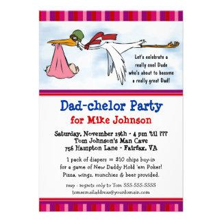 Fiesta de Dadchelor - invitaciones lindas de la du Comunicado