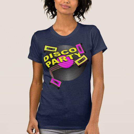 Fiesta de disco camiseta