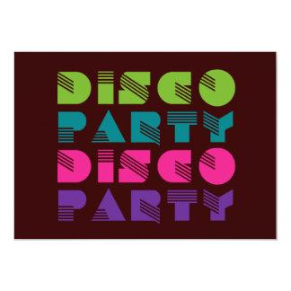"""fiesta de disco de los años 70 - danza invitación 5"""" x 7"""""""