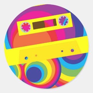 Fiesta de disco pegatina redonda
