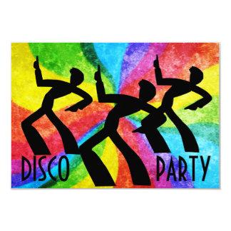 Fiesta de disco - remolinos de la gente y del arco invitaciones personalizada