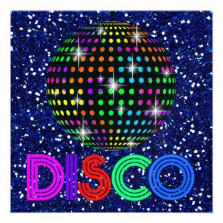 Fiesta de DISCO - SRF Invitaciones Personalizada