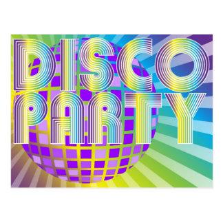 Fiesta de disco tarjeta postal