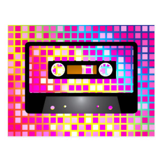 Fiesta de disco tarjetas postales