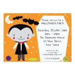 Fiesta de Drácula Halloween de la cuenta Invitación 12,7 X 17,8 Cm