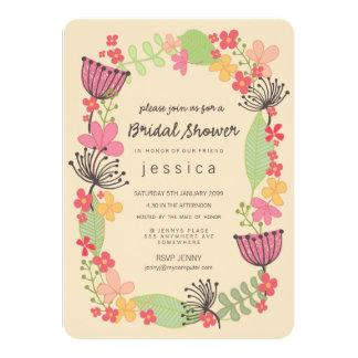 Fiesta de ducha nupcial de la frontera floral comunicados personales