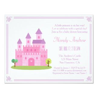 """Fiesta de ducha rosado real de la niña de princesa invitación 4.25"""" x 5.5"""""""