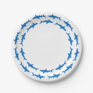 Fiesta de encargo divertido de la playa de los platos de papel