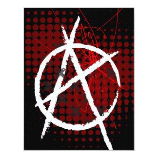 """Fiesta de encargo Invitaitons de la anarquía Invitación 4.25"""" X 5.5"""""""