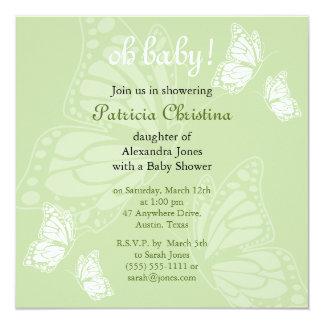 Fiesta de fiesta de bienvenida al bebé delicado invitación 13,3 cm x 13,3cm