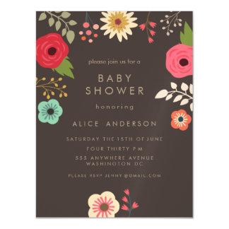 fiesta de fiesta de bienvenida al bebé floral invitaciones magnéticas