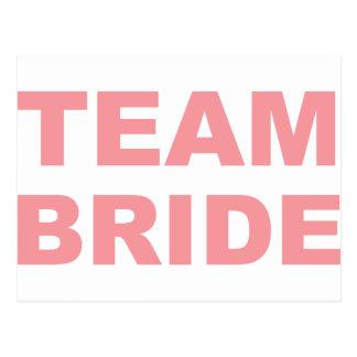 Fiesta de gallina del boda de la novia del equipo tarjeta postal