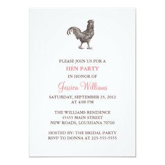 Fiesta de gallina invitación