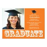 Fiesta de graduación anaranjada graduada moderna comunicado personal