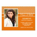 Fiesta de graduación anaranjada moderna de la foto comunicado personal