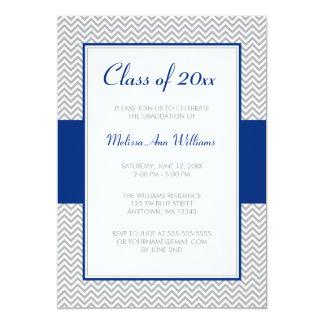 Fiesta de graduación de Chevron de los azules