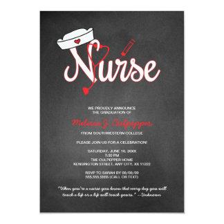 """Fiesta de graduación de la enfermera que fija la invitación 5"""" x 7"""""""