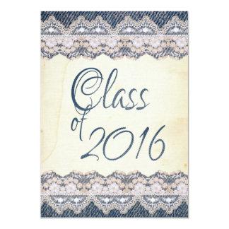 """Fiesta de graduación de papel 2016 del cordón del invitación 5"""" x 7"""""""