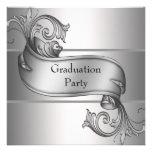 Fiesta de graduación de plata del negro del diplom anuncios personalizados