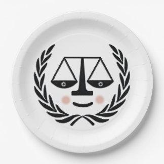 fiesta de graduación del colegio de abogados platos de papel