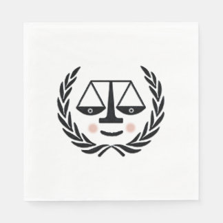 fiesta de graduación del colegio de abogados servilletas desechables