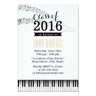 """Fiesta de graduación del Musical de las llaves del Invitación 3.5"""" X 5"""""""
