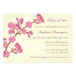 Fiesta de graduación elegante de moda de la flor d comunicado