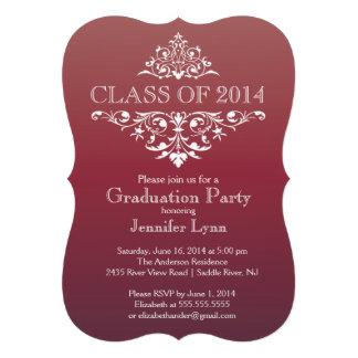 Fiesta de graduación elegante formal del Flourish  Invitaciones Personales