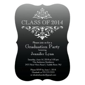 Fiesta de graduación elegante negra formal del Flo Anuncio