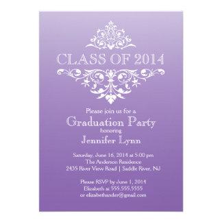 Fiesta de graduación elegante púrpura formal del F Comunicado